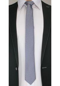 Alties - Męski Krawat w Drobny Wzór Geometryczny - 6cm- Alites, Szaro-Różowy. Kolor: różowy. Materiał: tkanina. Wzór: geometria. Styl: wizytowy, klasyczny, elegancki