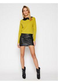 Pinko Sweter Misto Lana Infeltrito AI 20-21 PRR 1N1305 Y75G Żółty Regular Fit. Kolor: żółty