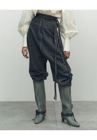 VICHER - Szare spodnie jeansowe CARMEN. Stan: podwyższony. Kolor: szary