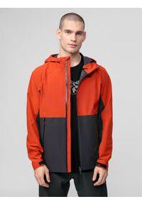Pomarańczowa kurtka przeciwdeszczowa 4f