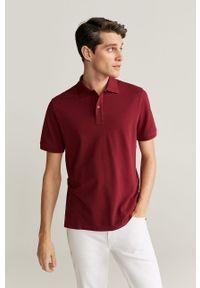 Czerwona koszulka polo Mango Man krótka, na co dzień, polo, casualowa
