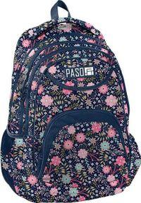 Niebieski plecak Paso w kwiaty