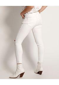 ONETEASPOON - Białe jeansy Freebirds II. Stan: podwyższony. Kolor: biały. Wzór: aplikacja