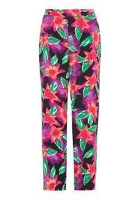Cellbes Szerokie, wzorzyste spodnie we wzory female ze wzorem 50/52. Stan: podwyższony. Materiał: tkanina. Wzór: kolorowy