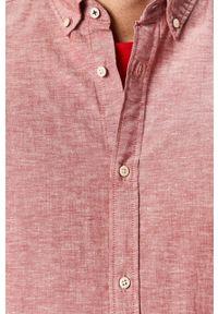 Czerwona koszula Jack & Jones button down, na co dzień