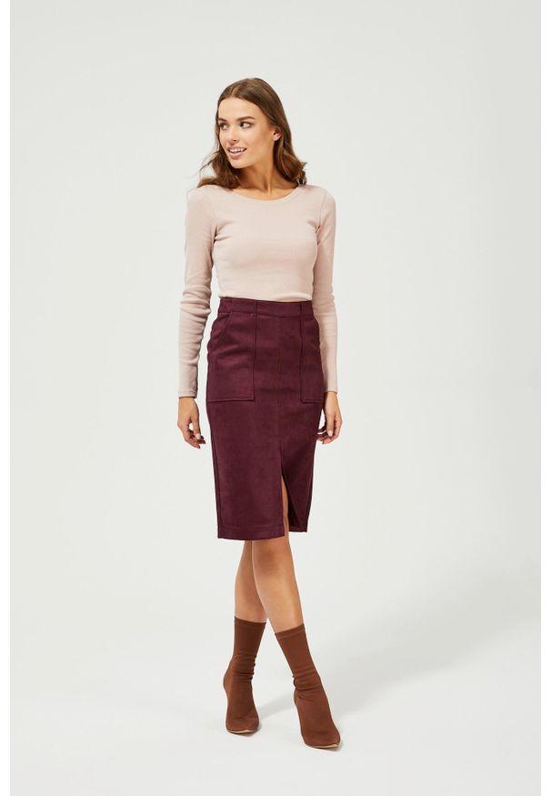 Fioletowa spódnica MOODO z podwyższonym stanem