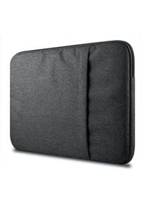 "TECH-PROTECT - Tech-Protect Sleeve 15-16"" dark grey. Materiał: puch, nylon"