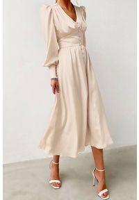 Długa sukienka IVET elegancka, na co dzień