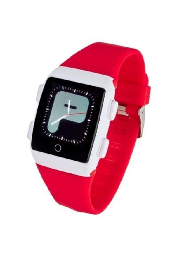 Czerwony zegarek GARETT młodzieżowy, smartwatch