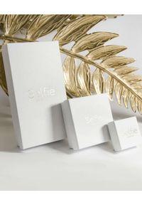 SELFIE JEWELLERY - Złocony łańcuszek na brzuch Rise&Shine. Materiał: srebrne, złote. Kolor: złoty. Wzór: aplikacja. Kamień szlachetny: cyrkonia