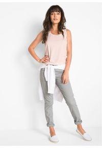 Spodnie ze stretchem Slim Fit bonprix szary. Kolor: szary. Materiał: bawełna #2