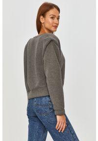 Szara bluza Answear Lab długa, z długim rękawem