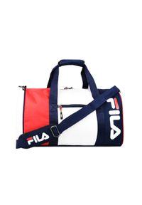 Niebieska torba sportowa Fila w kolorowe wzory