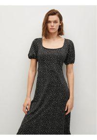 mango - Mango Sukienka codzienna Armanda 87057157 Czarny Regular Fit. Okazja: na co dzień. Kolor: czarny. Typ sukienki: proste. Styl: casual