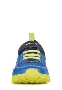 Buty sportowe Geox na rzepy, z cholewką, z okrągłym noskiem