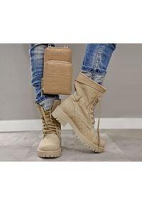 Zapato - dziurkowane botki za kostkę - skóra naturalna - model 420 - kolor beżowy. Okazja: na spacer. Wysokość cholewki: za kostkę. Kolor: beżowy. Materiał: skóra. Wzór: ażurowy. Obcas: na płaskiej podeszwie. Styl: sportowy