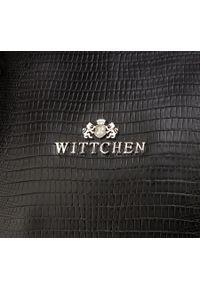 Czarna torebka Wittchen klasyczna, z motywem zwierzęcym