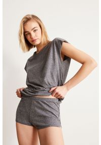 Szara piżama Undiz gładkie, krótka