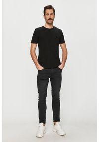 Czarny t-shirt AllSaints casualowy, na co dzień