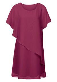 Fioletowa sukienka bonprix asymetryczna