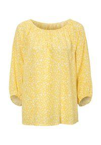 Żółta bluzka Cellbes elegancka, z dekoltem w serek