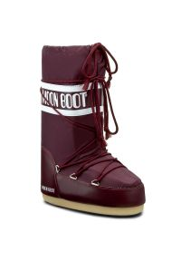 Czerwone śniegowce Moon Boot z cholewką