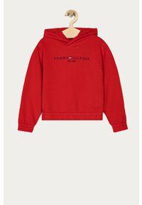 Czerwona bluza TOMMY HILFIGER na co dzień, z aplikacjami, casualowa