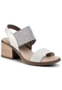 Białe sandały Rieker na co dzień, casualowe