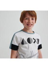 Reserved - Bawełniany t-shirt Play Station - Biały. Kolor: biały. Materiał: bawełna