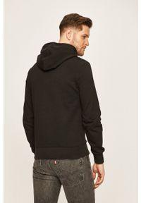 Calvin Klein - Bluza. Kolor: czarny. Materiał: dzianina. Wzór: nadruk