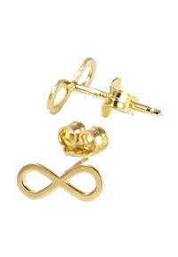 Braccatta - HOPE Kolczyki złote infinity. Materiał: złote. Kolor: złoty. Wzór: aplikacja