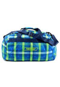 Target Docelowa torba podróżna, W kratkę, niebiesko-zielony. Kolor: niebieski, zielony, wielokolorowy. Wzór: kratka