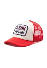 Czerwona czapka z daszkiem Pepe Jeans