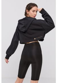 Adidas by Stella McCartney - adidas by Stella McCartney - Bluza. Kolor: czarny. Materiał: bawełna, dzianina, poliester