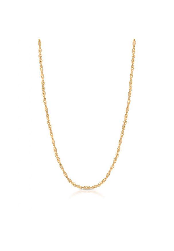 W.KRUK Wyjątkowy Złoty Łańcuszek - złoto 375 - ZUN/LS401. Materiał: złote. Kolor: złoty. Wzór: ze splotem