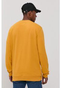 Vans - Bluza bawełniana. Okazja: na co dzień. Kolor: zielony. Materiał: bawełna. Wzór: nadruk. Styl: casual