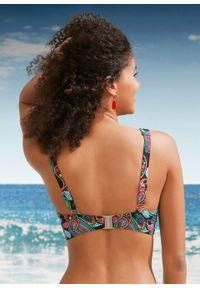 """Biustonosz bikini minimizer bonprix czarny """"paisley"""". Kolor: czarny. Wzór: paisley"""