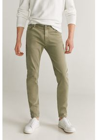 Złote jeansy Mango Man