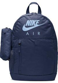Nike Plecak NIKE AIR Elemental SZKOLNY Sportowy + Piórnik Granatowy. Kolor: niebieski. Styl: sportowy