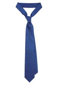 Niebieski krawat Lancerto w kwiaty, elegancki