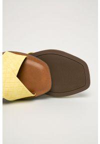 Call It Spring - Klapki Bailia. Kolor: żółty. Materiał: materiał, guma. Wzór: gładki