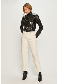 Czarna kurtka Calvin Klein Jeans casualowa, na co dzień, z kapturem
