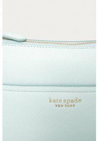 Kate Spade - Torebka skórzana. Kolor: niebieski. Materiał: skórzane. Rodzaj torebki: na ramię #5