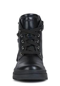 Czarne buty zimowe Geox na zamek, na zimę