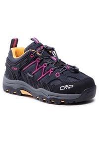 Trekkingi CMP - Kids Rigel Low Trekking Shoe Wp 3Q54554 Antracite/Bouganville 54UE. Kolor: czarny. Materiał: skóra, materiał, zamsz. Szerokość cholewki: normalna