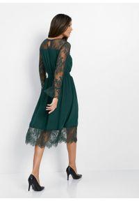 Zielona sukienka bonprix elegancka, rozkloszowana