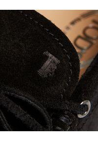 TOD'S - Czarne mokasyny Gommino City. Nosek buta: okrągły. Kolor: czarny. Styl: klasyczny #3