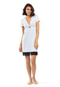 Lorin - Koszula nocna. Kolor: biały. Materiał: koronka, materiał. Długość: krótkie