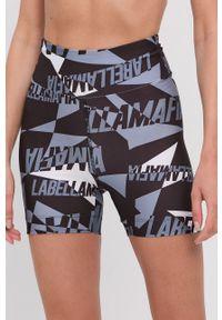 LABELLAMAFIA - LaBellaMafia - Szorty. Stan: podwyższony. Kolor: niebieski. Materiał: dzianina