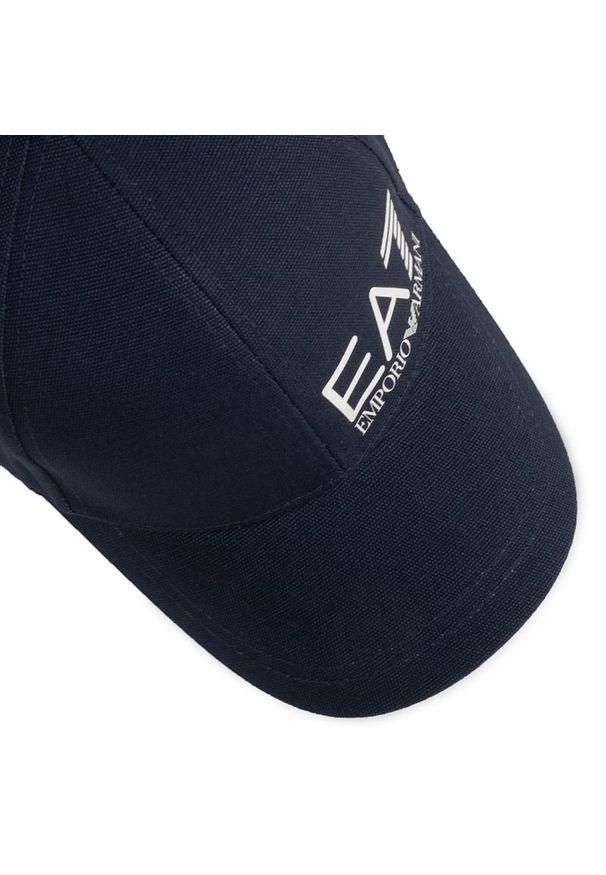 Niebieska czapka z daszkiem EA7 Emporio Armani
